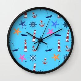 Nautical Beach Pattern Wall Clock