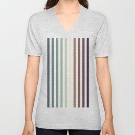 vertical stripes - autumn color striped pattern Unisex V-Neck
