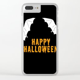 Happy Halloween flying bats Clear iPhone Case