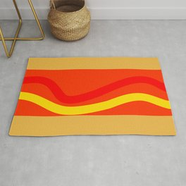 Abstract hot dog Rug