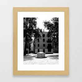 Venetian well Framed Art Print
