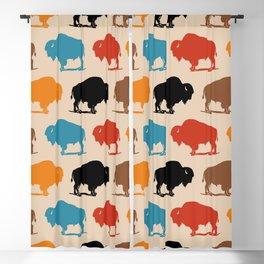 Colorful Buffalo Bison Pattern 278 Blackout Curtain