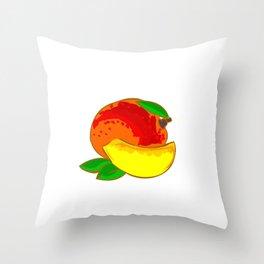Mango Heart Throw Pillow