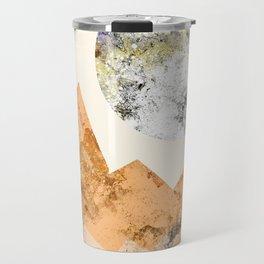 The two textured moons Travel Mug