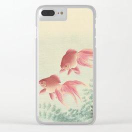 Two veiltail goldfish - Ohara Koson (1900 - 1936) Clear iPhone Case