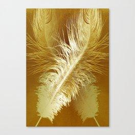 Golden Ostrich Canvas Print