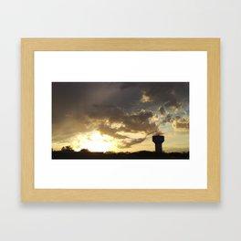 Sunset over Water Tower 1 Framed Art Print