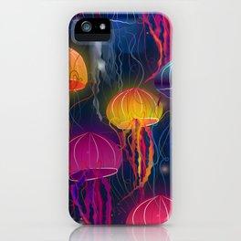 Rainbow Jellyfish iPhone Case