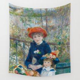 """Pierre Auguste Renoir """"Two Sisters"""" Wall Tapestry"""
