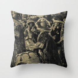 Group of Candombe Drummers at Carnival Parade of Uruguay Throw Pillow