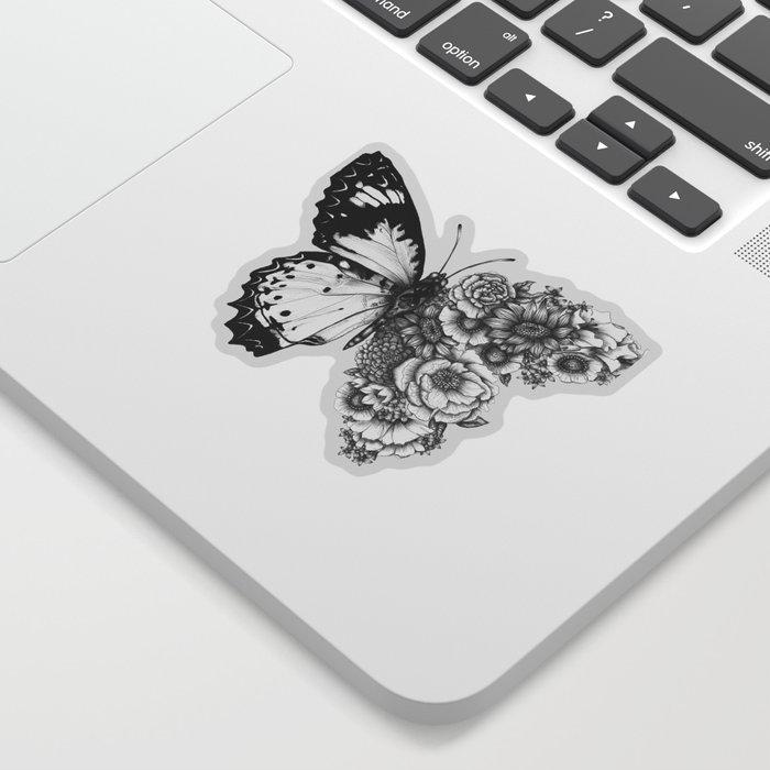 Butterfly in Bloom Sticker