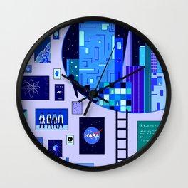 Pensive Blue Wall Clock