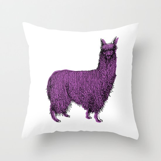 suri alpaca Throw Pillow