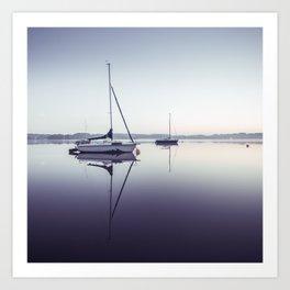 peaceful moment at the lake Art Print