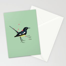 Oriental Magpie Robin Stationery Cards