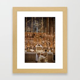 Unto Us A Son Is Given Framed Art Print