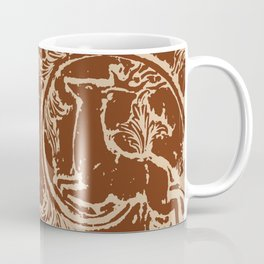 Chocolate Asheville Stags a Leaping Coffee Mug