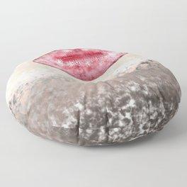 Lips frozen in time Floor Pillow