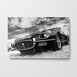 E-Type Jaguar Classic Motor Car Metal Print