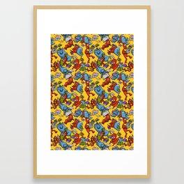 Monsters reading Framed Art Print