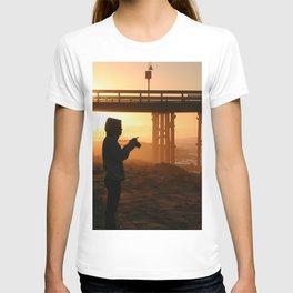 Photographer At Sunset T-shirt