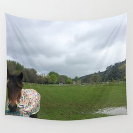 Stormy Day Horse Wall Tapestry