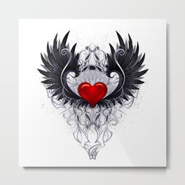 Dark angel heart Metal Print
