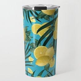 Summer Lemon Twist Jungle #4 #tropical #decor #art #society6 Travel Mug