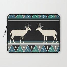 Christmas pattern with deer Laptop Sleeve