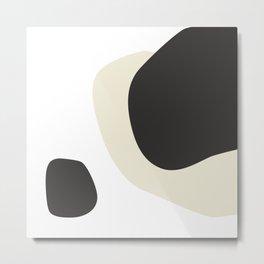 42133-5-1, Ivory & Ebony, Abstract Geometric Shape Line Art, Trendy home decor, Metal Print