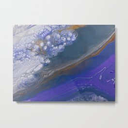 Deep Blue feat White Cells Metal Print