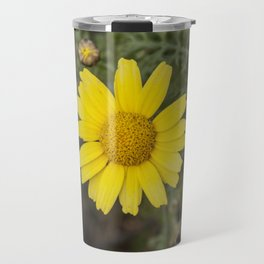 Daisy flower cu yellow Travel Mug
