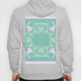 pink and pastel medalion Hoody