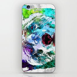 Polar Bear Watercolor Grunge iPhone Skin