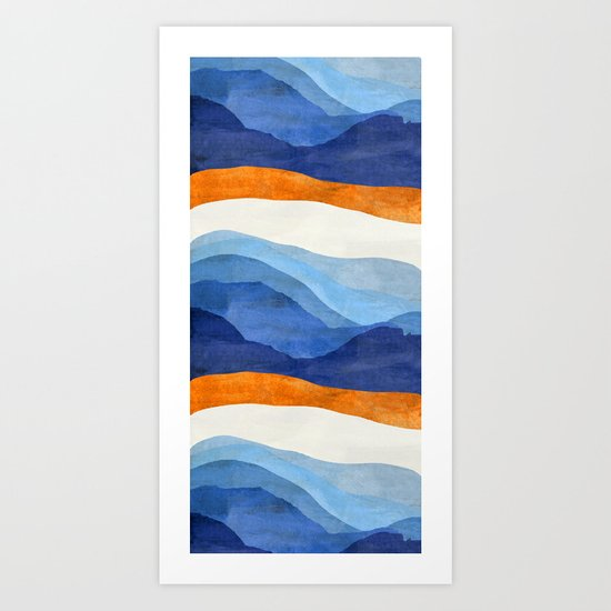 Mountains in the Morning Art Print