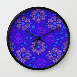 Fantasy flowers and leaves Wall Clock