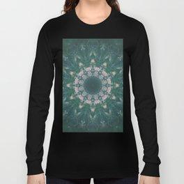 Amazon Emerald Gemstone Mandala No. 39 Long Sleeve T-shirt