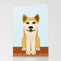 vector Stationery Cards featuring Shiba dog vector by TIERRAdesigner