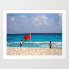 Cancun Surf - M Art Print