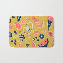 Summer Food Fiesta Bath Mat