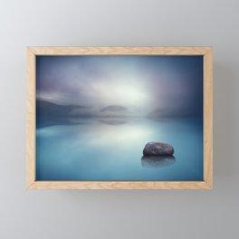 Silent Blue Framed Mini Art Print