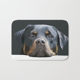 Rottweiler Portrait Vector Bath Mat