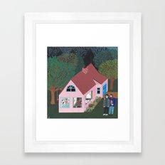 A Rose Dream in the Sticks Framed Art Print