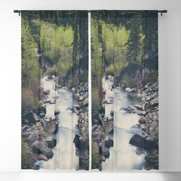 a mountain stream weaves down amongst the trees above Lake Tahoe Blackout Curtain