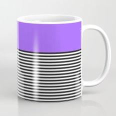 STRIPE COLORBLOCK {PURPLE} Mug