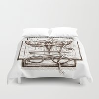 science Duvet Covers featuring Science by Ulla Thynell