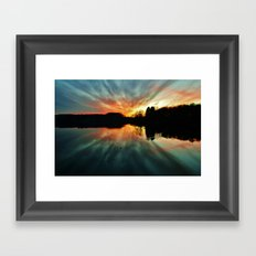 Magical evening at the lake Framed Art Print