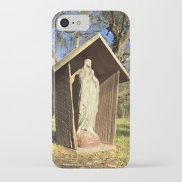 Our Lady prayer grotto iPhone Case