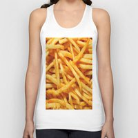 french fries Tank Tops featuring French Fries by I Love Decor