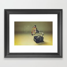 put some flowers in your guns Framed Art Print